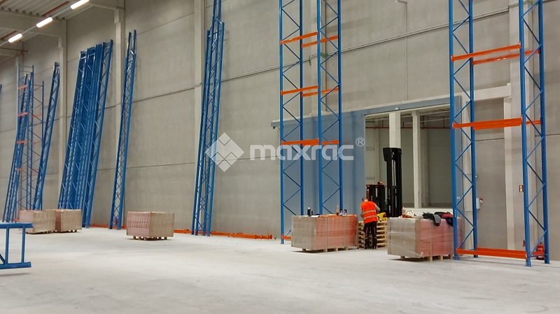 Maxrac completed pallet racking turn-key project in Europe