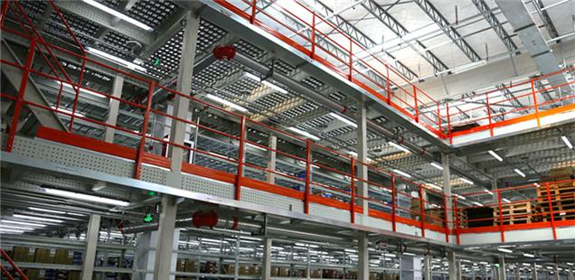 Steel mezzanine for supply chain